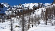 il Vallone del Ciaval inizia ad aprirsi davanti a noi (21-4-2012)