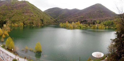 Panorama sul lago dalla vietta