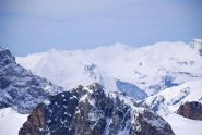 montagne di panna oltre l'Aiguille Large