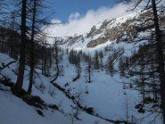 Risalendo il vallone dopo l'Alpe della Gianna
