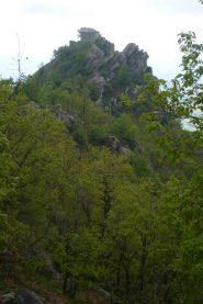 Vista della cappella dalla vera cima Rocca Due Denti