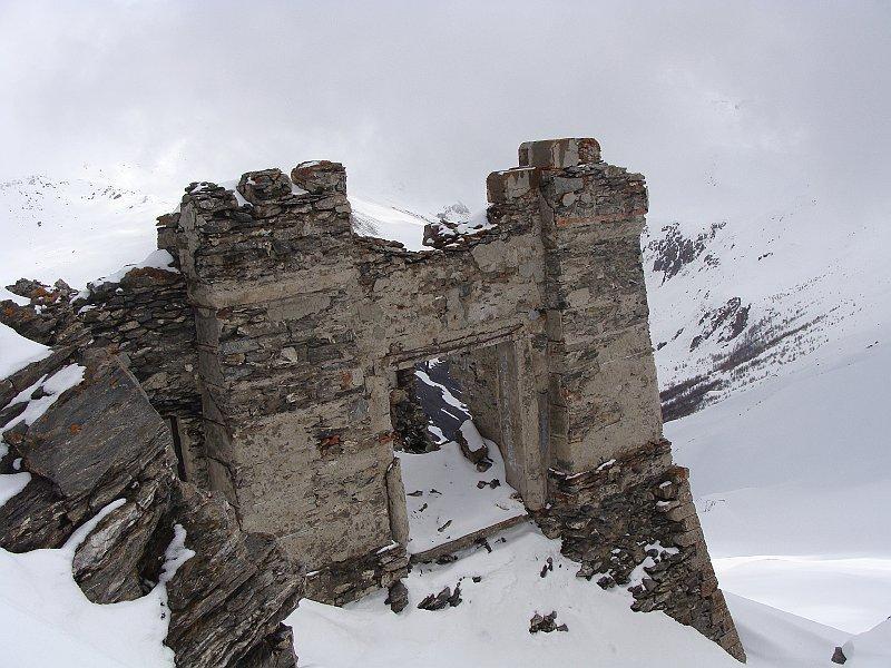 ruderi del fortino in punta
