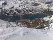 Il lago del musnìs dalla cima