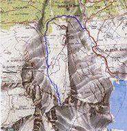 cartina con traccia gps