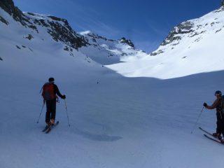Il ghiacciaio Cian ed il colle Chavacour