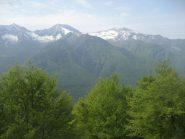 verde su verde: scorcio del panorama poco dopo la partenza verso Tignolino e Togano