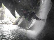 Luca sulla calata che arriva al laghetto coperto