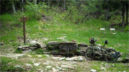 Fontana da dove parte il portage per la Portia