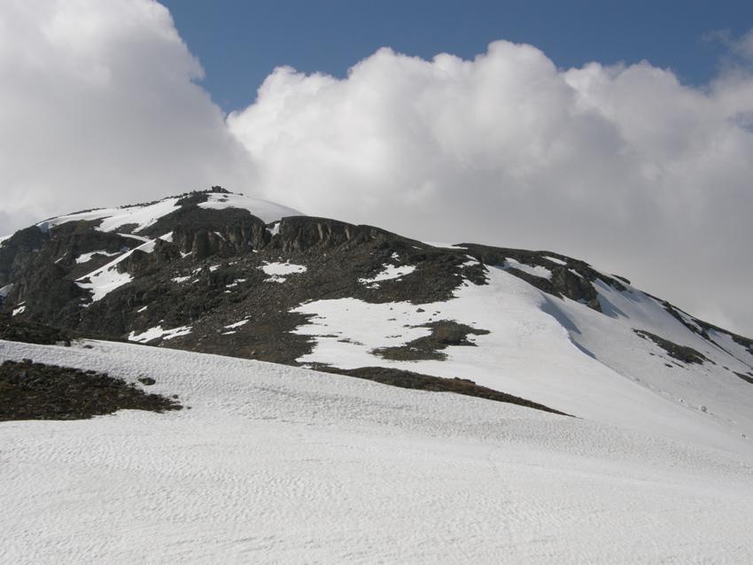 La cresta di salita vista dal Bistinenpass