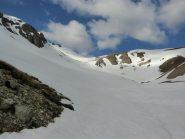 Parte finale del vallone e vetta dell'Alpavin