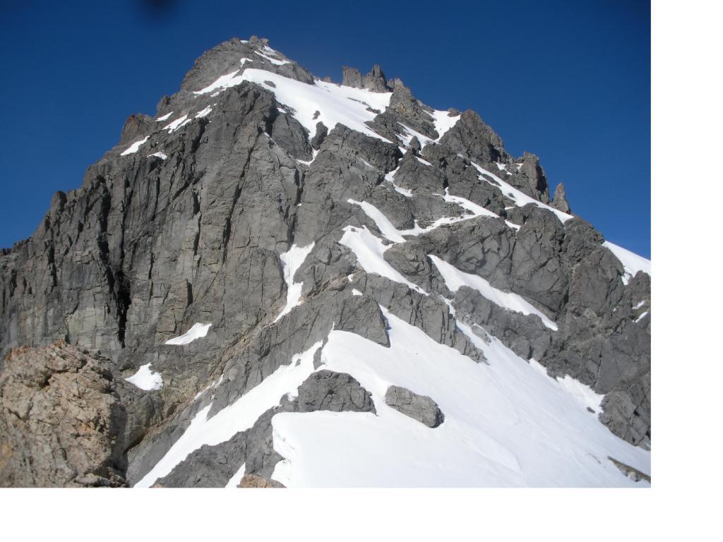 La cresta nord.est della Gran Somma vista dal Colle Gran Bagna