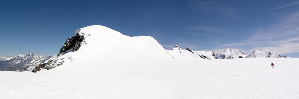 Il pianoro del Colle del Breithorn