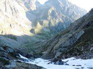 Risalita la Gorgia della Maura a piedi fino a 2100 m ca - uno sguardo verso il rif. Soria