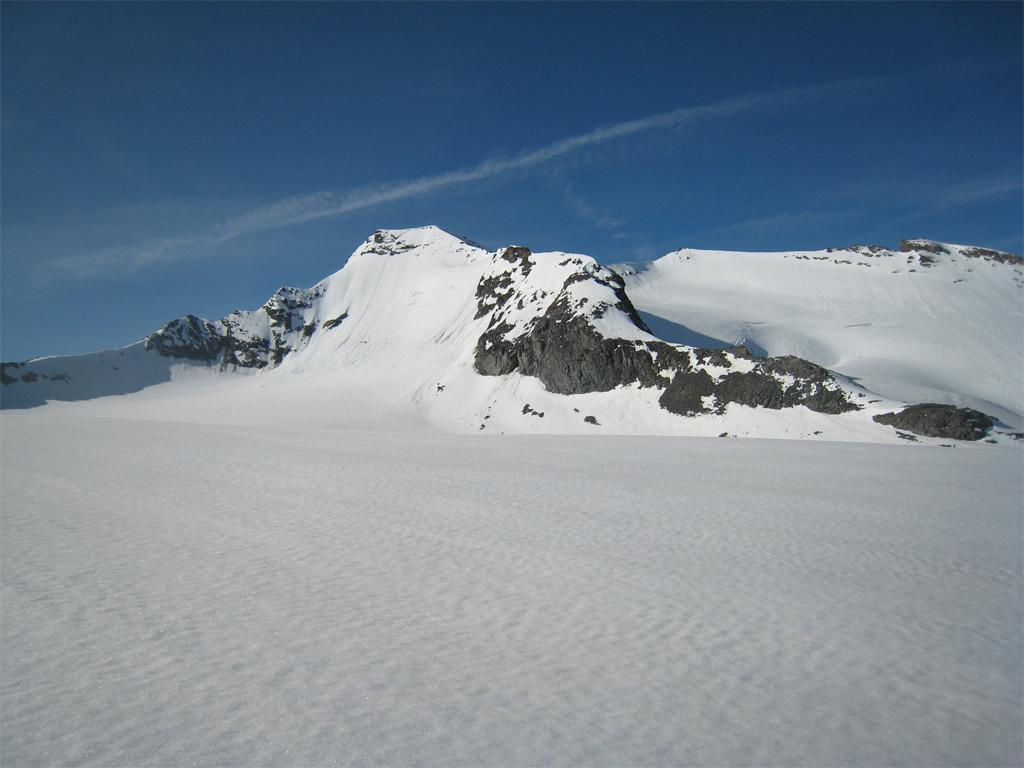 La parete Nord vista dal chiacciaio