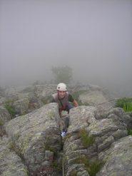 Non si vedeva molto per la nebbia, anche Claudio non vedeva nulla!!!