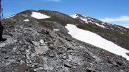 la parte iniziale dell'ampia Cresta della Dormillouse (2-6-2012)