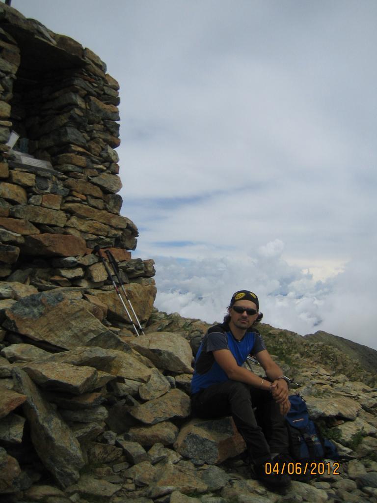 Io sulla vetta di Punta Imperatoria