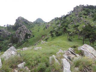 La cima dell'Argentea dal sentiero