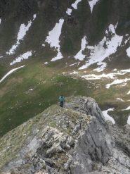 il percorso più esposto in cresta....