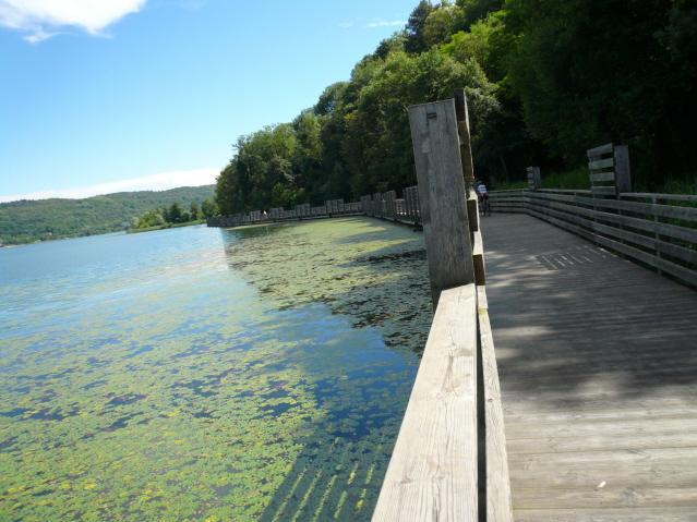 passerella sul lago