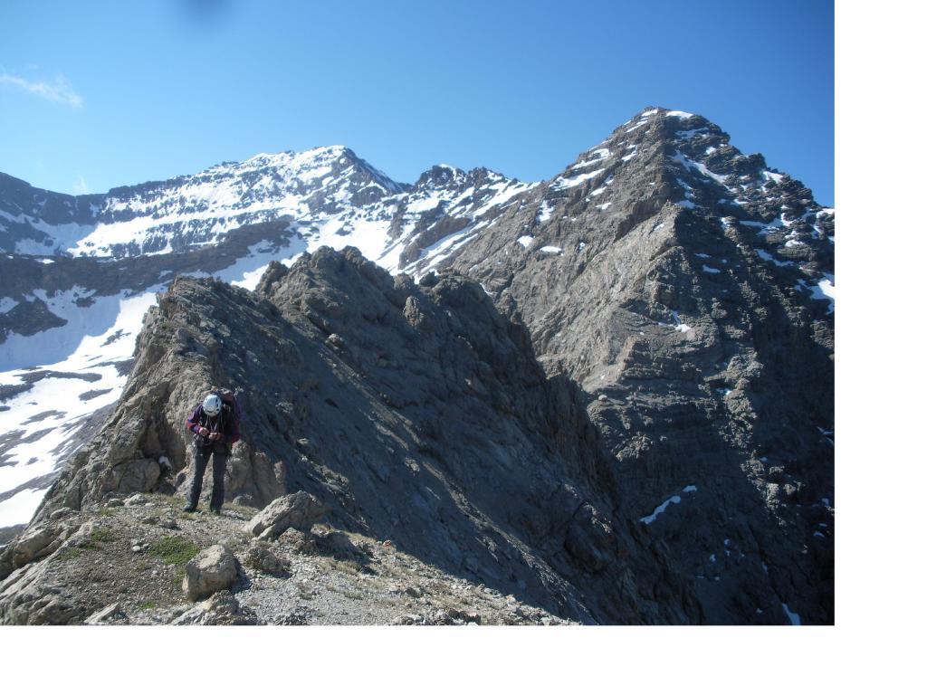 In sequenza dall'anticima il Furgon la P.Muta il Gran Roc e il Roc del Boucher