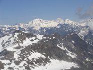 panorama verso la grande casse e il monte bianco