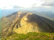 La cresta verso il Monte Tabor (alta via del Lario)