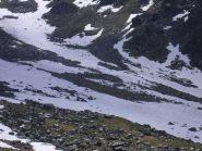 raggiunta quota 2500 sotto le balze del Truc Blanc,camosci sul nevaio....