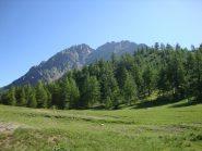 Maladecia (2745 m) e anticima (2737 m), versante sud-ovest dalla partenza (2025 m)