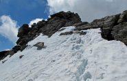 I pochi metri finali su roccia