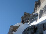 ultimi metri prima di uscire al colle, ci siamo tenuti a dx per evitare il ghiaccio