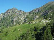Alpe di Carpagnasca con alle spalle il Pizzo Castello