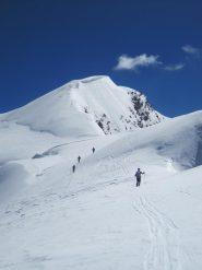 Niente ghiaccio sulla cresta finale