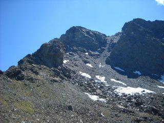 La cresta vista dal colle Orsiera, sulla sx il grande gendarme