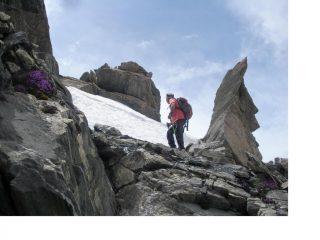 La bizzarra cresta nord del Pelvo di Ciabrera...