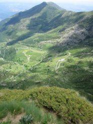 panorama sul vallone di Scalaro a fine via