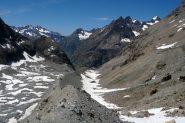 Il tragitto sulla morena del Glacier de Bonne Pierre