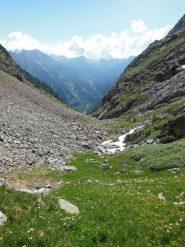 Il vallone della Forca da poco sotto il colle di Frudiera