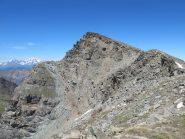Monte Herban visto dalla cresta per la Tsaplane