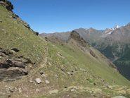 Anticima e cima dell'Ouillé dal sentiero 18D