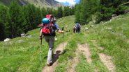 salendo le praterie iniziale del Vallone di Tisa (22-6-2012)