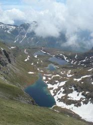 panorama spettacolare scendendo lungo la cresta