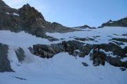 Il tratto sul ghiacciaio de la Temple