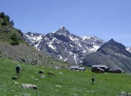 la becca di luseney con in primo piano le alpi la tsa