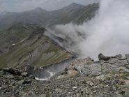 La cresta dal valico Passetta al Passo Bucìe
