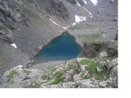 Il lago di Coca scendendo dalla Bocchetta dei Camosci...