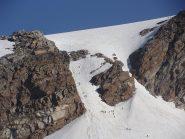il canale di accesso al ghiacciaio del Lys