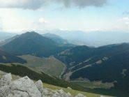 I Piani di Ruggio dalla cresta della Serra del Prete (quota 2050 ca.)