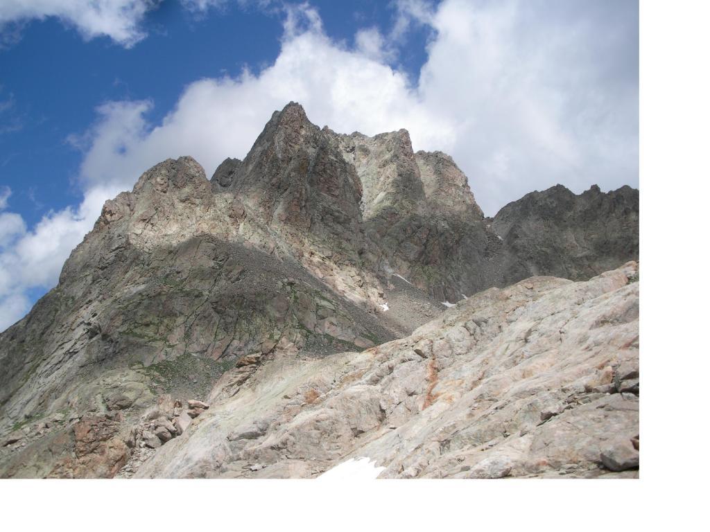 La cima di Nasta vista ritornando dal Colle di Brocan