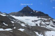 la Punta Bassac Nord vista dalla morena del piccolo Ghiacciaio di San Martino (8-7-2012)